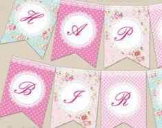Shabby Chic Birthday Banner Decor