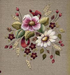 Burgundy Floral by Trish Burr