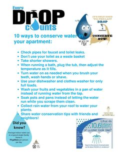 Water conservation tips top ten tips for saving water by for Top 10 ways to conserve water