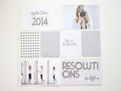 #papercraft #scrapbook #layout   a simple 2014 project life title page