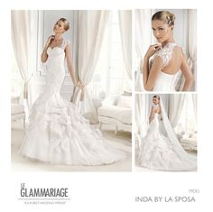 Modelo Inda by La Sposa. www.leglammariage.com