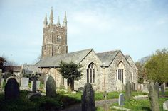 Poughill Parrish Church, dedicated to Saint Olaf, in the rural village of Bude, Cornwall. This is the family church of John's maternal grandmother and her family in Cornwall.