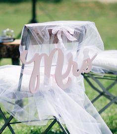 Small Touches for Big Impact - Chair Signs for the Bride and Groom // Unique Wedding and Event Decor, Gifts & Accessories at www.ZCreateDesign.com or Shop ZCreateDesign on Etsy