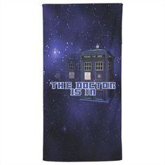 The Doctor Police Box Bath Towel Galaxy Background, Police Box, Customized Girl, Box Design, Vampire Diaries, Bath Towels, Fandom, The Vampire Diaries
