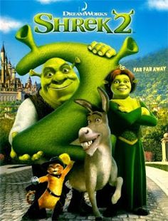 Shrek (Mike Myers) has rescued Princess Fiona (Cameron Diaz), got married, and now is time to meet the parents. Shrek, Fiona, and Donkey (Eddie Murphy Cartoon Movies, Disney Movies, Disney Pixar, Punk Disney, Disney Facts, Disney Characters, Eddie Murphy, Kung Fu Panda, Movies To Watch