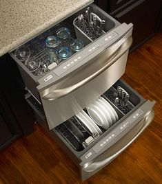 Maytag double dishwasher. Need this in my next life.