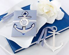 Anchor Nautical-Theme Brushed-Metal Book Mark