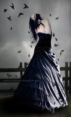 Wait for me by PerfectedInPain on DeviantArt Dark Beauty, Gothic Beauty, Ocean Girl, Gothic Wallpaper, Gothic Fantasy Art, Beautiful Dark Art, Gothic Aesthetic, Fantasy Drawings, Dark Pictures