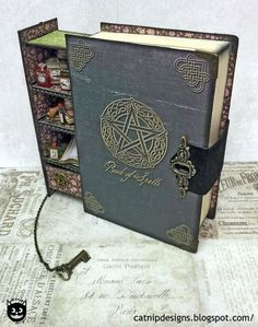 How to Assemble a Secret Spell Book Box. - This is cool idea for Tim Holtz Products!