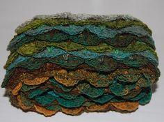 Japanese Sock Yarn Scarves: Same yarn worked two ways