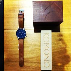 Komono winston watch blue cognac restocked. More Xmas gift ideas at #DistrictConceptStore, Ioannina.