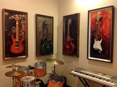 "GFrames ""Lake of Fire"" Guitar Display Case"