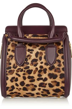 Alexander McQueen - The Heroine small leather and leopard-print calf hair  tote fd205d1bd3746
