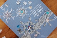 Nichol Spohr LLC: Simon Says Stamp January 2017 Card Kit | Snowflake Inlay Border Card