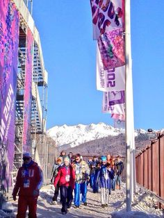 Twitter / Sochi2014: The crowds are streaming into the first Olympic event of #Sochi2014 #Olympics