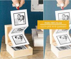 Regalo DIY: Acordeón de fotos de móvil