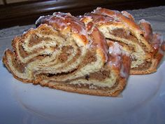 Original German sweet bread that is braided and called Nusszopf in German. An original and tradition and German recipe for a coffee cake.