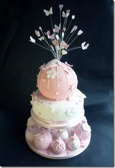 Pink Bauble Cake Christening Cakes