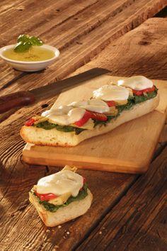 Spinach Artichoke French Bread Pizza featuring Sorrento® Fresh Mozzarella