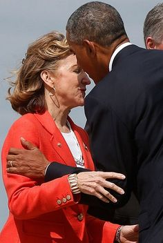 For months Kay Hagan has been lying to North Carolina's voters, telling them that she is a more conservative Democrat, unlike the more liberal Obama, but the ugly truth Hagan doesn't want you to know is this:  Kay Hagan has voted for Barack Obama's agenda 96% of the time.  Which is precisely why Kay Hagan didn't want this photo of her greeting Barack Obama leaked.