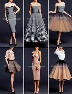 Women's Fashion Fake Gamer — fashion-runways: POEM BKK Fall/Winter RTW 2018 you can find similar pins . Elegant Dresses, Pretty Dresses, Beautiful Dresses, Mode Outfits, Dress Outfits, Fashion Dresses, Skirt Fashion, Retro Mode, Mode Vintage
