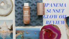 the Ipanema Sunset Glow Oil. This shimmery oil is the answer to all my prayers: it i. Diy Beauty, Beauty Hacks, Minimalist Beauty, Makeup Lovers, Flatlay Styling, Beauty Review, All Things Beauty, Good Skin, Flat Lay