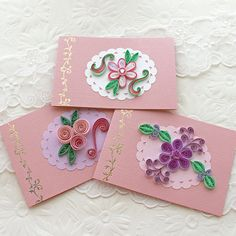 Paper Quilling Gift Cards Mini Small Quilled by EnchantedQuilling