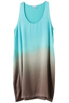 Gradation silk dress