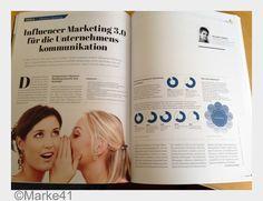 Vielen Dank @marke41 für die Veröffentlichung meines Beitrags zum #InfluencerMarketing. Zu lesen in Ausgabe 5, 2015, S. 42-43. Freut mich. @influma_com.