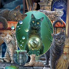Lisa Parker, Fantasy Cross Stitch, Cat Sitting, Counted Cross Stitch Patterns, Cross Stitches, Cat Art, Illustration Art, Painting, Diy