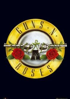 """Guns N' Roses is an American hard rock band from Los Angeles formed in The classic lineup, as signed to Geffen Records in consisted of lead vocalist Axl Rose. Some of their popular songs are """"Live and Let Die"""" and """"Sweet Child O' Mine"""". Axl Rose, Hard Rock, Guns And Roses Wallpaper, Queen Songs, Sweet Child O'mine, Roses Quotes, Rock N Roll, Heavy Metal, Poster"""