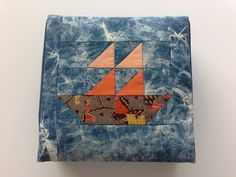 Patchwork box of sail boat Sailing, Boat, Quilts, Blanket, Scrappy Quilts, Candle, Dinghy, Quilt Sets, Boats