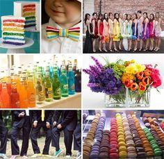 A Rainbow Themed Wedding
