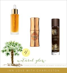 Three of our picks for for the ultimate natural-looking, sunkissed glow: Luxe Facial Oil from St. Tropez, Dew the Hoola by Benefit, and Terracotta Jambes De Gazelle by Guerlain. All available at available at Sephora /289 King Street, #Charleston. #bronzer #sephora