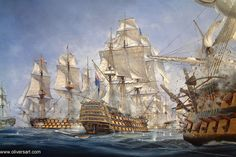 Ship of the Line | battle of trafalgar royal sovereign first through the line is the ...