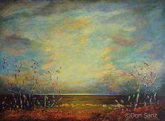 Dori Sanz -  Esperanza - técnica mixta  #sealandscape #painting #buenosaires