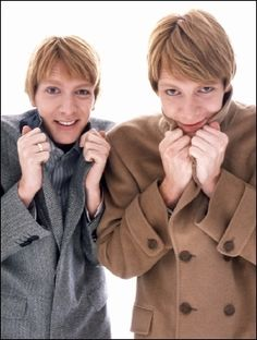 James and Oliver Phelps.  So cute.
