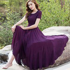 롱 스커트 여름 드레스 2020 새로운 기질 슬림 쉬폰 요정 비치 스커트 여름은 얇은 스커트 긴 섹션