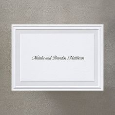 Pearl Poetry - White - Note Card and Envelope