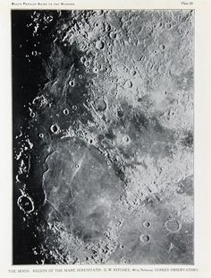 Items similar to Antique Moon Print, Astronomy Print - The Moons Surface, Craters, Astronomical Print c. 1900 on Etsy Victorian Books, Antique Books, Vintage Books, Moon Texture, Outer Space Theme, Planets And Moons, Moon Surface, Moon Decor, Moon Photography
