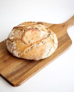 4 ingredients is all you need to make a rustic bread loaf at home. From scratch-eats.com