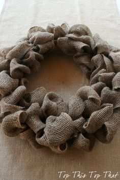 Best linen wreath tutorial EVER.  AND 45 BEST FRENCH Spring Party, Crafts & Decor Tutorials EVER with their LINKS!!! GIFT, PARTY, EVENT, SPRING, WEDDING DECOR. Blog & Photos from MrsPollyRogers.com
