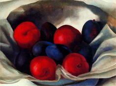 dark romantism of fruit..:)    From: http://www.wikipaintings.org/en/georgia-o-keeffe/flowers-of-fire#supersized-artistPaintings-231812