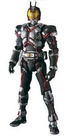 Faiz - Most well designed kamen rider using line strip and futuristic feels!