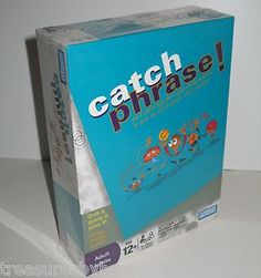 I SOLD IT ON EBAY: Have you played the fast-talking, fast-passing, beat-the-buzzer game? Catch Phrase! Recommended for individuals aged 12 and up and for four or more players, making it perfect for when the gang's all here!  Listed on eBay at auction right now starting at $9.96. #catchphrase