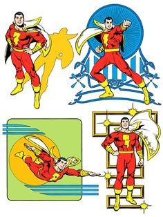 Shazam by José Luis García-López from the 1982 DC Comics Style Guide Captain Marvel Shazam, Mary Marvel, Original Captain Marvel, Marvel E Dc, Comic Book Artists, Comic Books Art, Comic Art, Garcia Lopez, D Mark