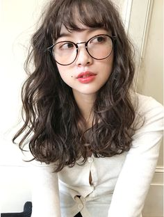 Curly Asian Hair, Korean Wavy Hair, Korean Medium Hair, Medium Hair Styles, Curly Hair Styles, Cut My Hair, Hair Cuts, Wavy Hair Perm, Half Up Half Down Hair