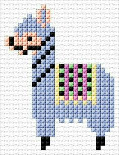 bead loom patterns for beginners Tiny Cross Stitch, Cross Stitch Cards, Cross Stitch Animals, Cross Stitch Designs, Cross Stitching, Cross Stitch Embroidery, Cross Stitch Patterns, Hand Embroidery, Loom Bands