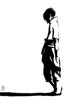 Black and white sasuke