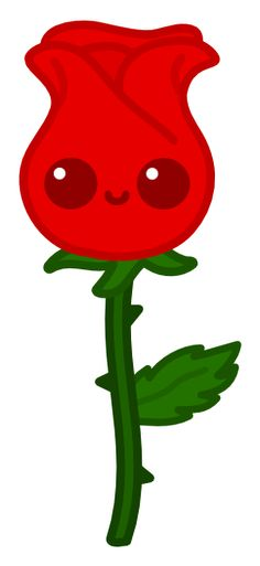 A red rose for ! Made in Inkscape KComm Rose for WllflwrPurpleIce Doodles Kawaii, Kawaii Chibi, Cute Animal Drawings Kawaii, Cute Easy Drawings, Arte Do Kawaii, Kawaii Art, Disney Drawings, Cartoon Drawings, Kawai Japan